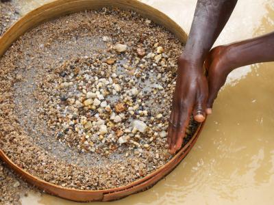 Het wassen van diamanten