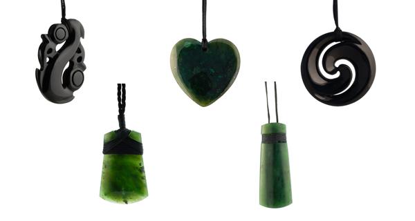 Jade Maori hangers uit Nieuw-Zeeland