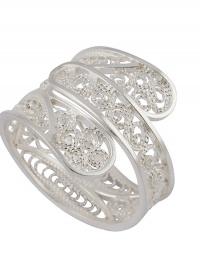 Zilveren Filigrain Ring Uit Peru Met Decoratief Design